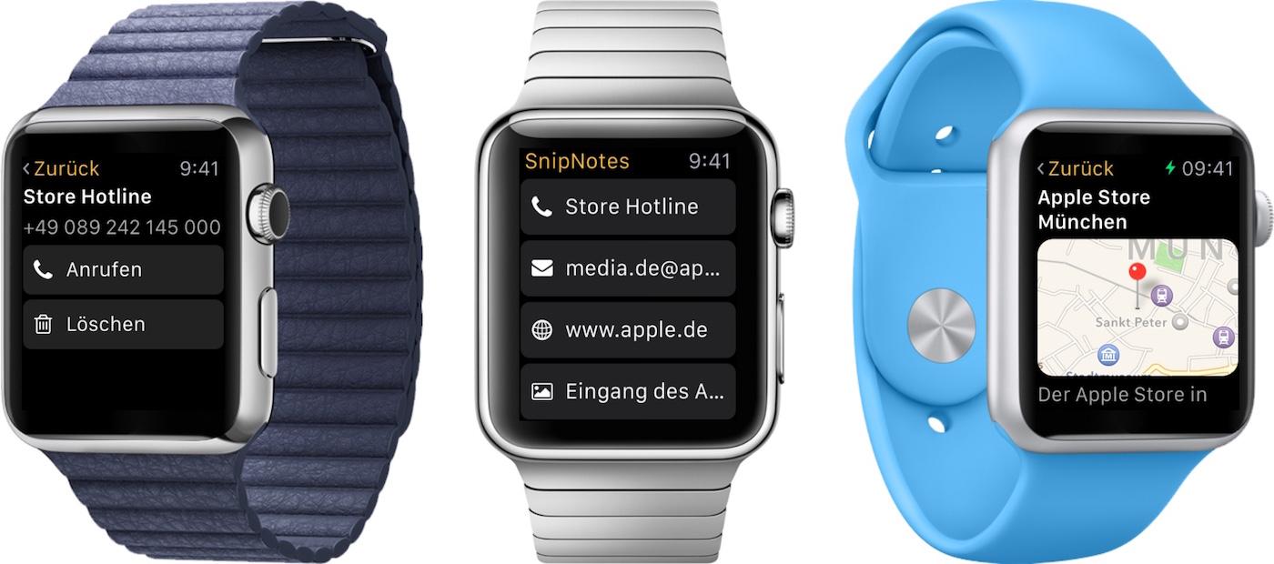 SnipNotes für Apple Watch