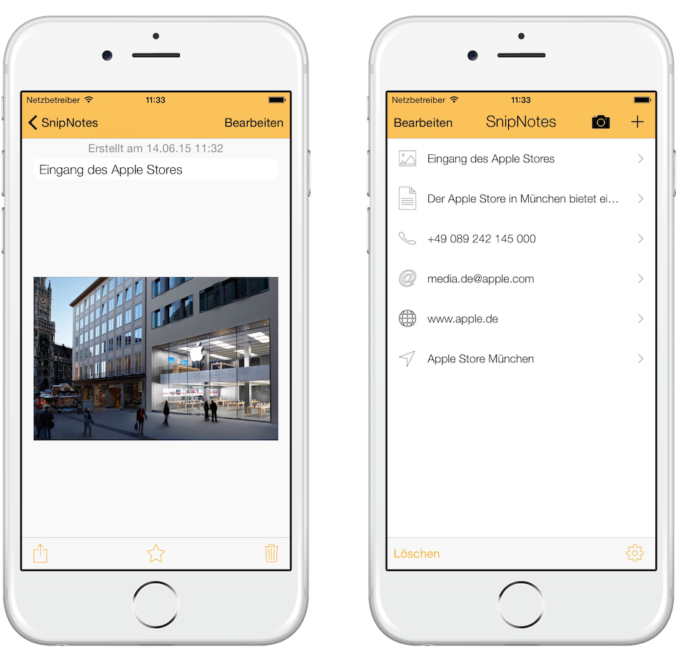 Bild in der Haupt-App